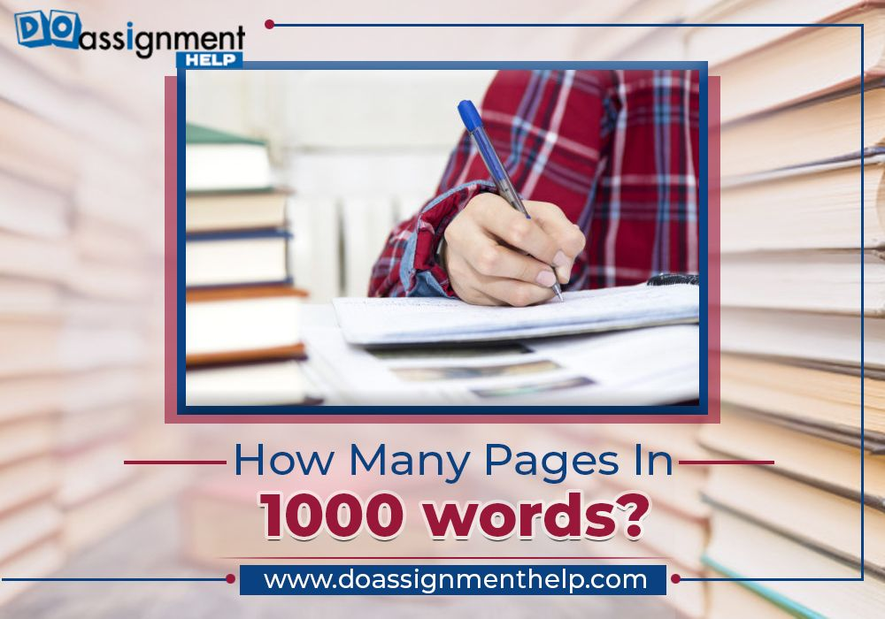 how many pages in 1000 words