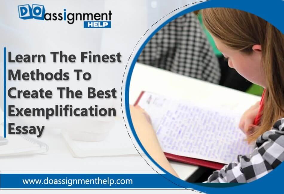 write an exemplification essay