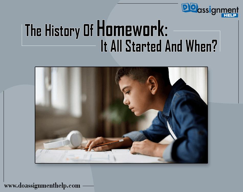 history of homework